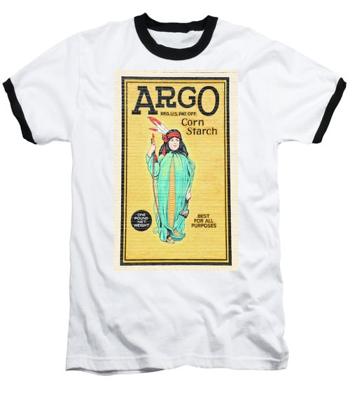 Argo Corn Starch Wall Advertising Baseball T-Shirt