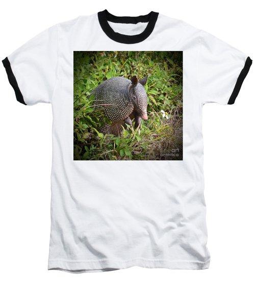 Armadillo And Flower Baseball T-Shirt