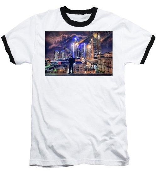 Baseball T-Shirt featuring the photograph Armageddon Detroit by Nicholas Grunas