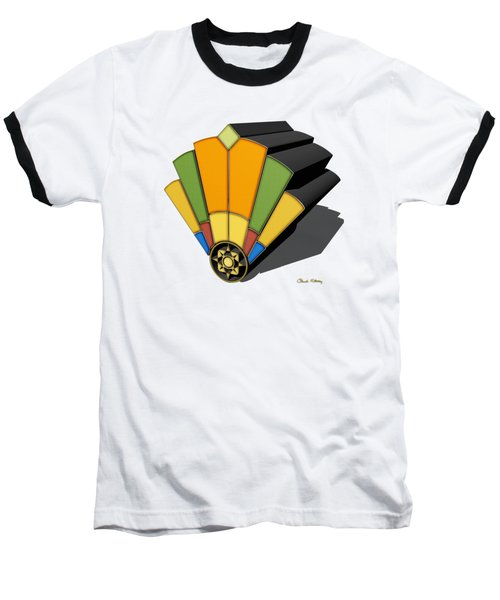 Art Deco Fan 8 3 D Baseball T-Shirt