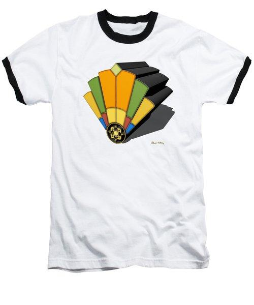 Art Deco Fan 8 3 D Baseball T-Shirt