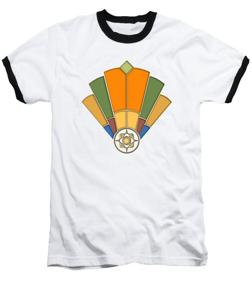 Art Deco Fan 8 Transparent Baseball T-Shirt