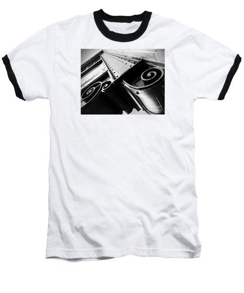 Art Deco Steel Baseball T-Shirt by James Aiken
