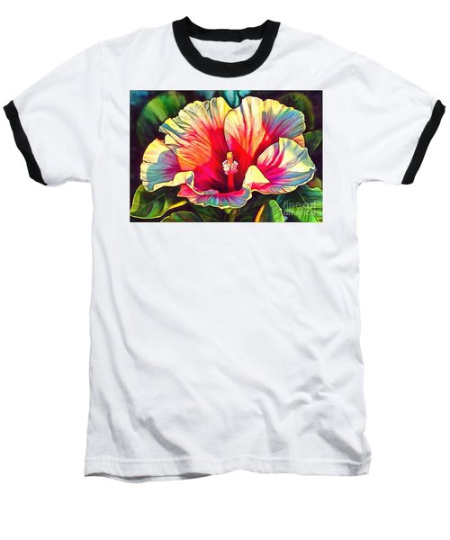 Art Floral Interior Design On Canvas Baseball T-Shirt by Catherine Lott