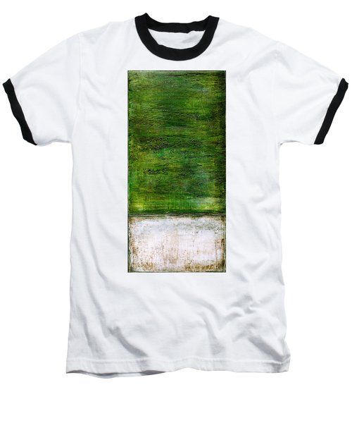 Art Print Green White Baseball T-Shirt