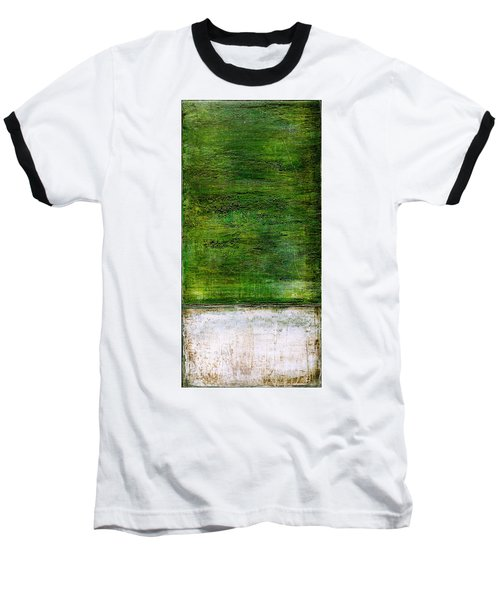 Art Print Green White Baseball T-Shirt