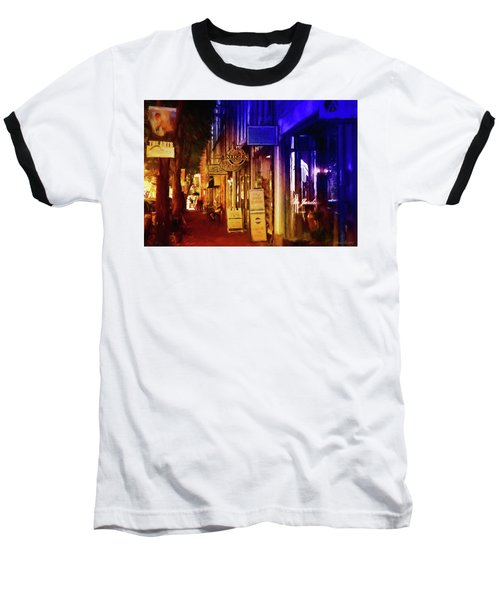 Art Row - Fredericksburg, Virginia Baseball T-Shirt by Glenn Gemmell