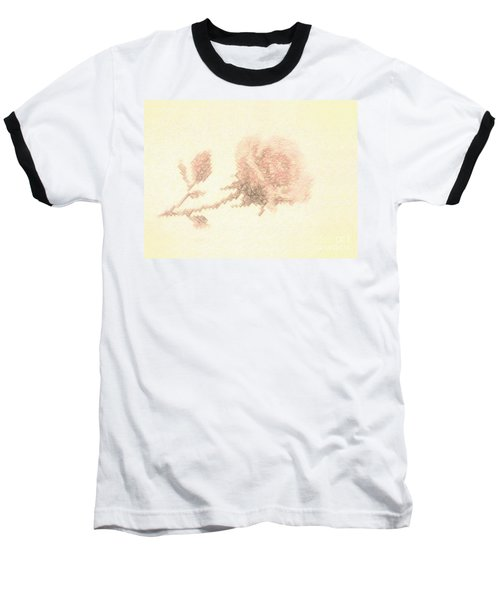 Baseball T-Shirt featuring the photograph Artistic Etched Rose by Linda Phelps