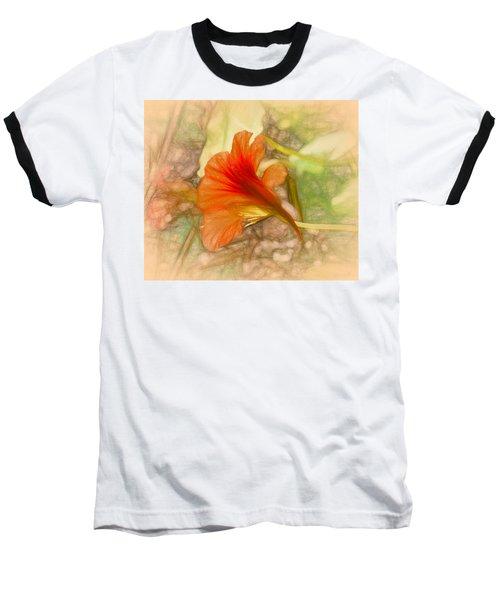Artistic Red And Orange Baseball T-Shirt