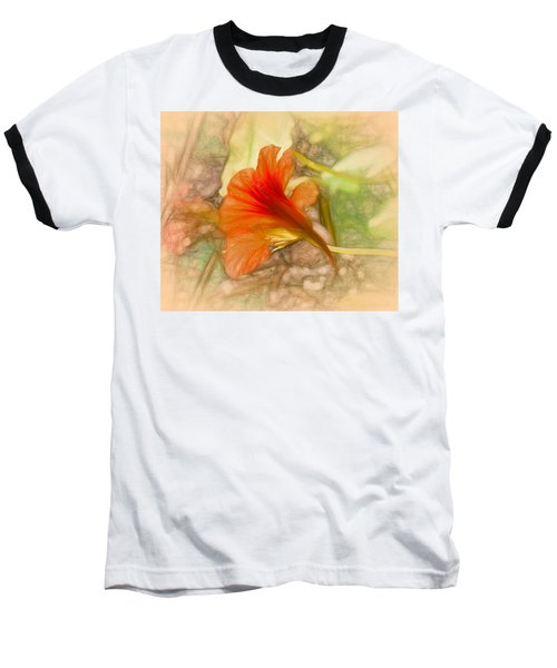 Artistic Red And Orange Baseball T-Shirt