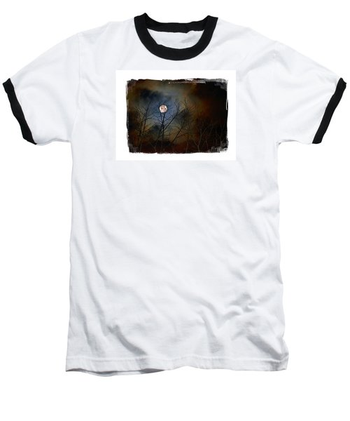 Baseball T-Shirt featuring the photograph Artsy Moon by Lila Fisher-Wenzel