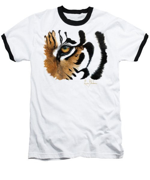 Tiger Eye Baseball T-Shirt by Lucie Bilodeau