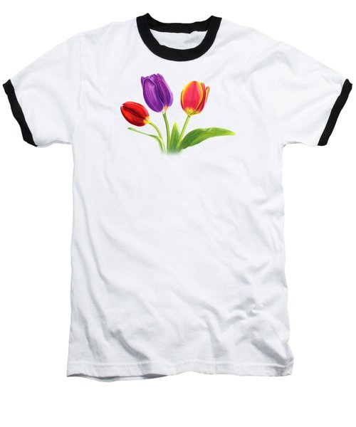 Tulip Trio Baseball T-Shirt