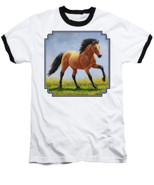 Buckskin Horse - Morning Run Baseball T-Shirt