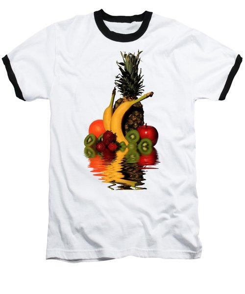 Fruity Reflections - Light Baseball T-Shirt by Shane Bechler