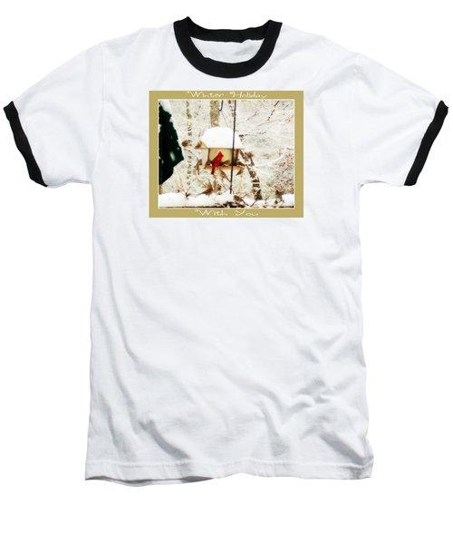 Winter Holiday Baseball T-Shirt by Anita Faye