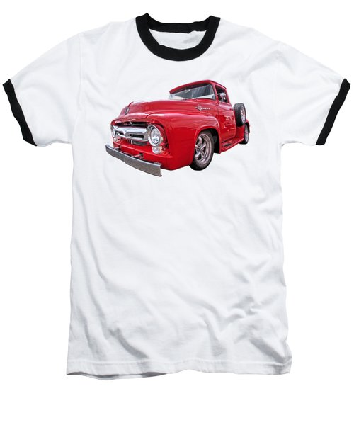 Red F-100 Baseball T-Shirt