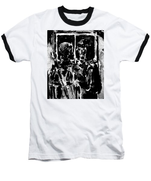 Baseball T-Shirt featuring the painting I Am The Way by Alfred Motzer