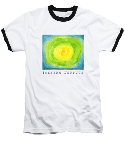 Abstract Iceberg Lettuce Baseball T-Shirt