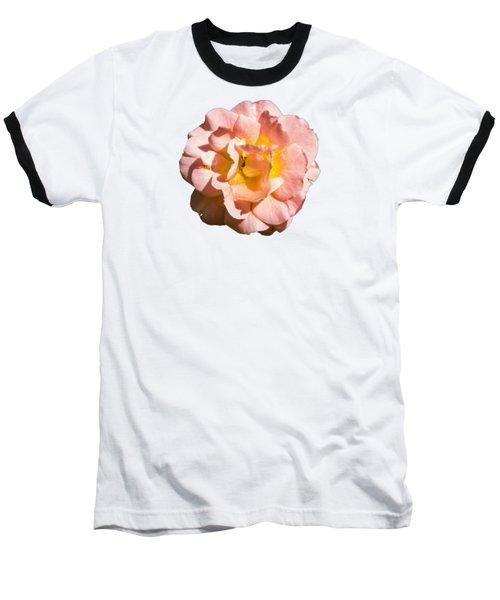 Peach Rose Baseball T-Shirt