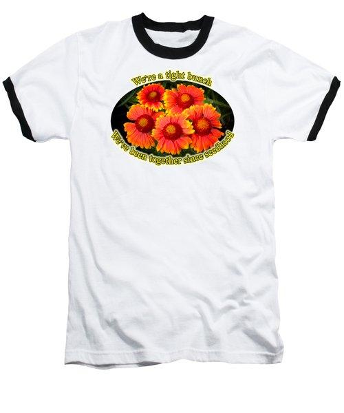 Bright Orange Gaillardia Baseball T-Shirt