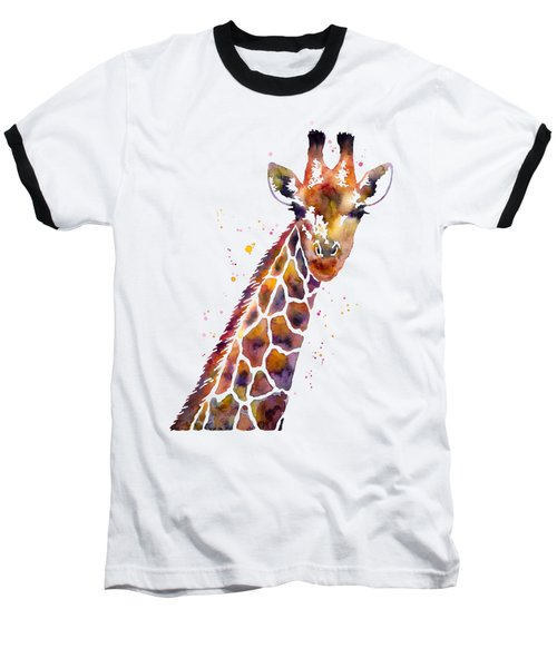 Giraffe Baseball T-Shirt by Hailey E Herrera