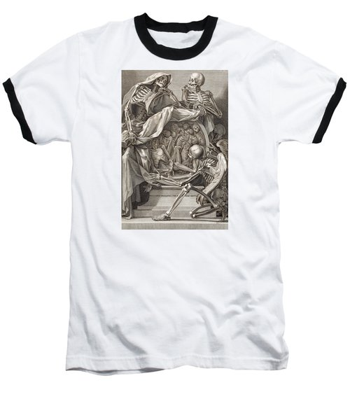Bernardino Genga - Allegorical Emblems Of Death Baseball T-Shirt