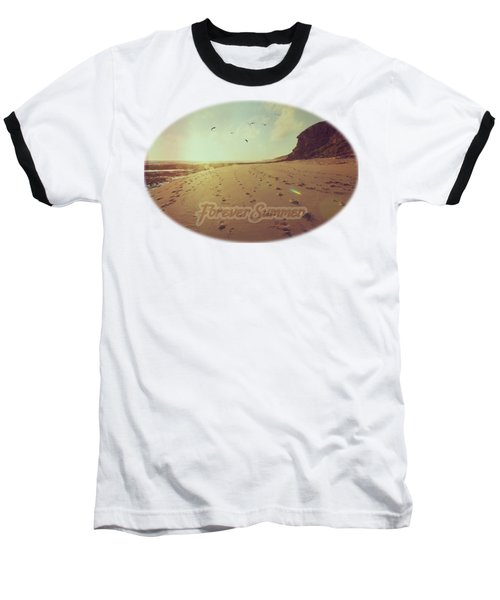 Baseball T-Shirt featuring the photograph Forever Summer 9 by Linda Lees
