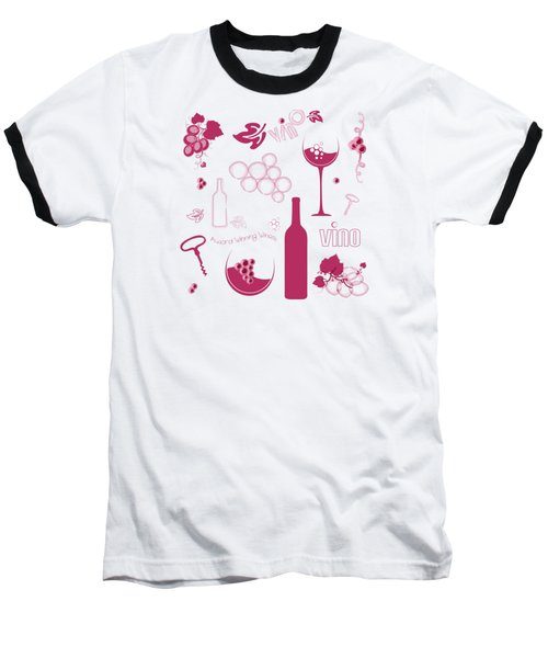 Wine Background Pattern Baseball T-Shirt