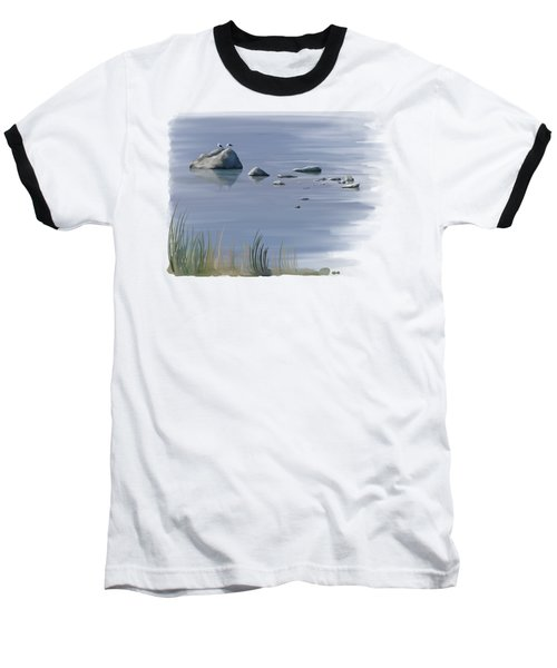 Baseball T-Shirt featuring the painting Gull Siesta by Ivana Westin