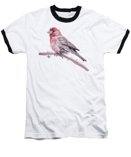 House Finch Watercolor Baseball T-Shirt