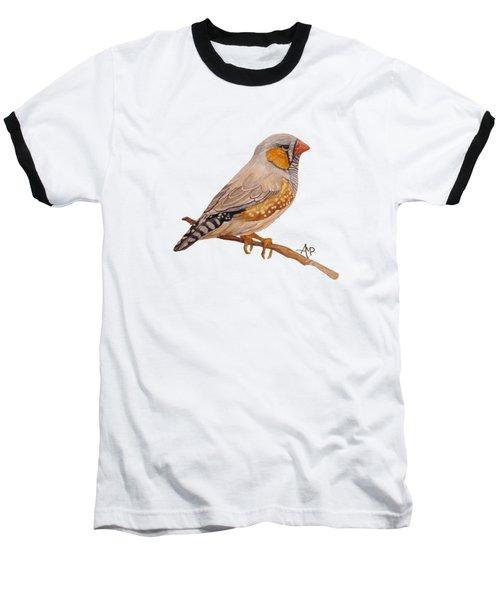 Zebra Finch Baseball T-Shirt by Angeles M Pomata