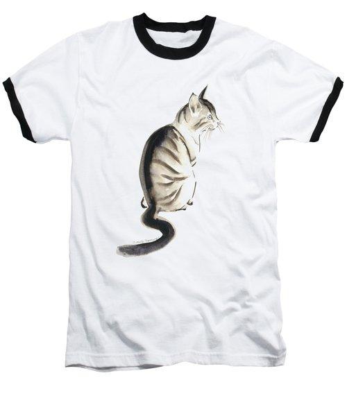Cat Art 2 Baseball T-Shirt by Melly Terpening