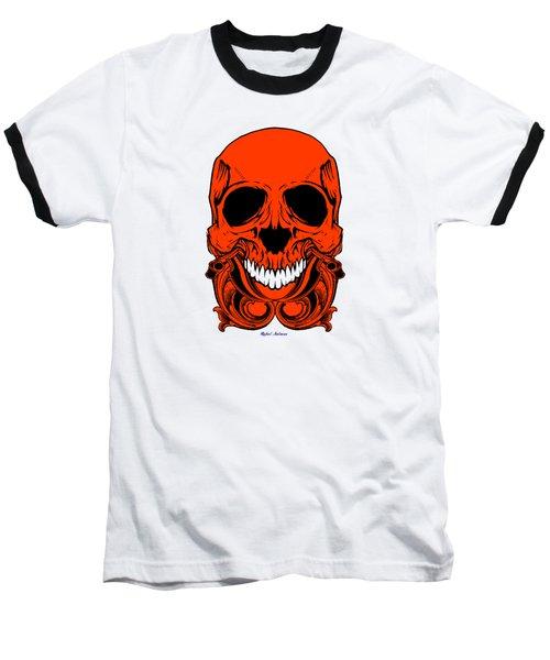 Red Skull  Baseball T-Shirt by Rafael Salazar