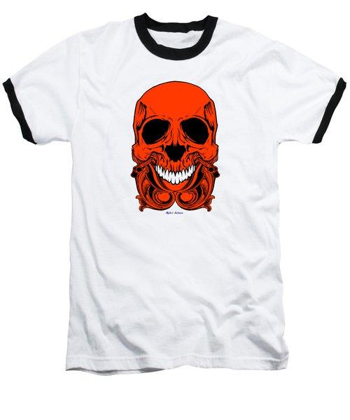Red Skull  Baseball T-Shirt