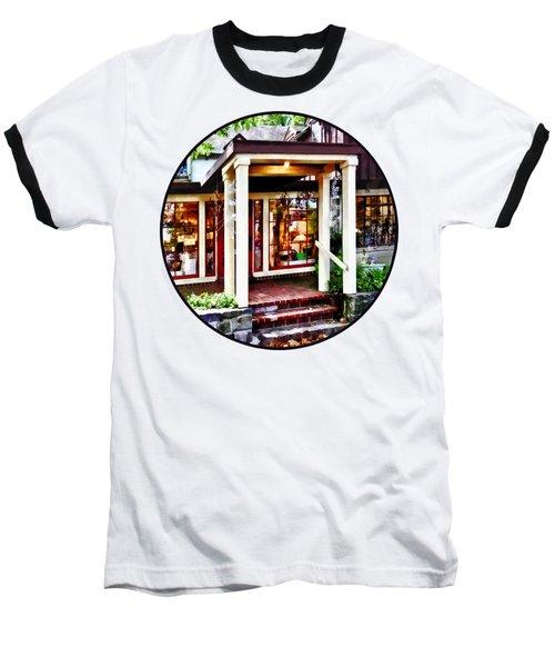 New Hope Pa - Craft Shop Baseball T-Shirt by Susan Savad