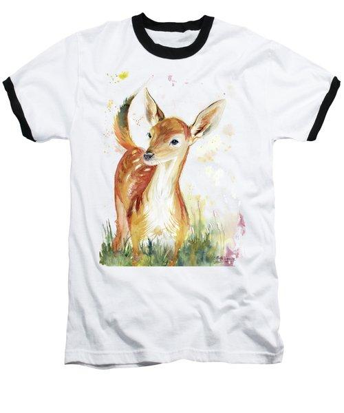 Little Deer Baseball T-Shirt by Melly Terpening
