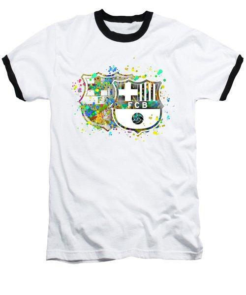 Tribute To F C Barcelona 7 Baseball T-Shirt by Alberto RuiZ