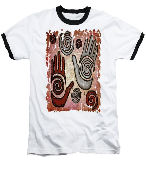 Healing Hands Fresco Baseball T-Shirt