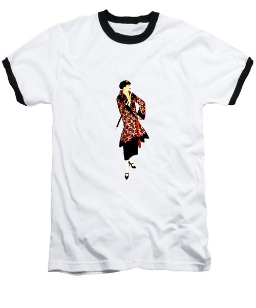 Baseball T-Shirt featuring the digital art La Robe  by Asok Mukhopadhyay