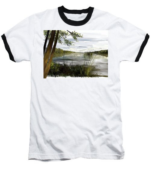 Quiet Day By Lake Baseball T-Shirt