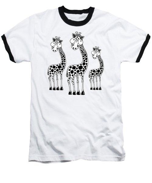 Fudge The Giraffe Baseball T-Shirt