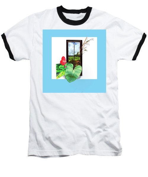 Anthurium Baseball T-Shirt