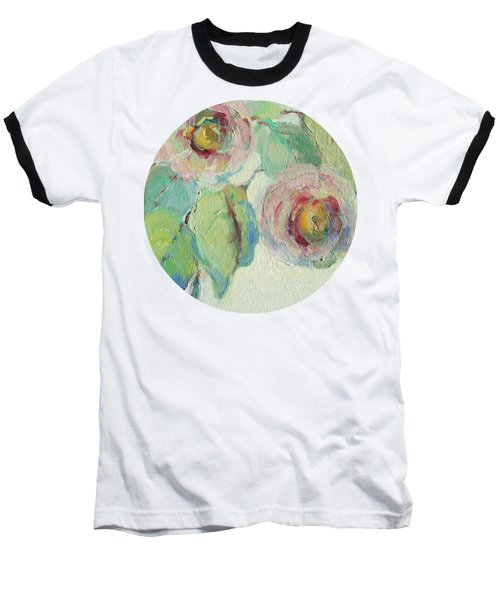 Impressionist Roses  Baseball T-Shirt by Mary Wolf