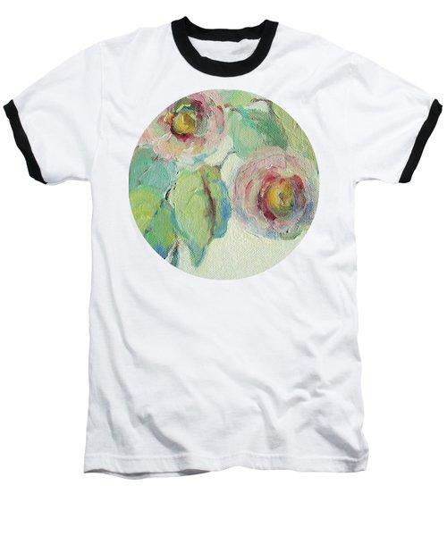 Impressionist Roses  Baseball T-Shirt