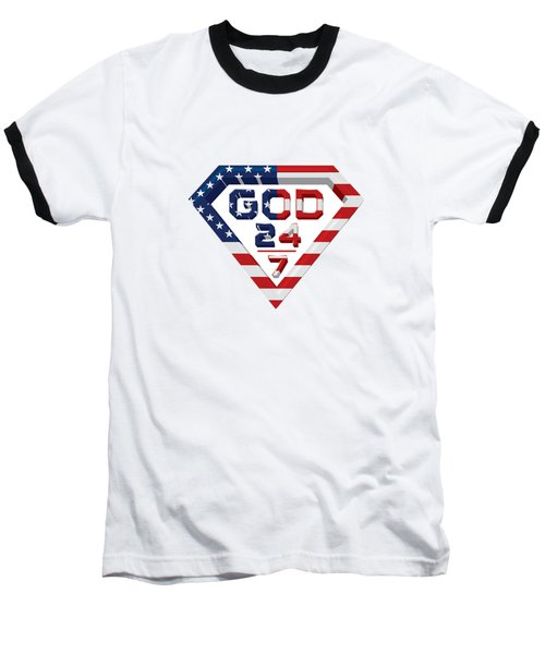 3 D Patriotic Design Baseball T-Shirt