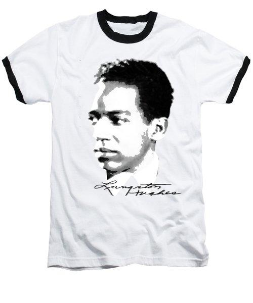 Langston Hughes Baseball T-Shirt by Asok Mukhopadhyay
