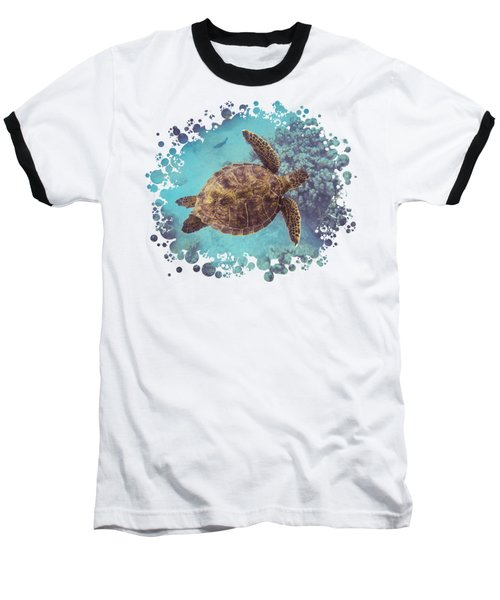Swimming Honu From Above Baseball T-Shirt