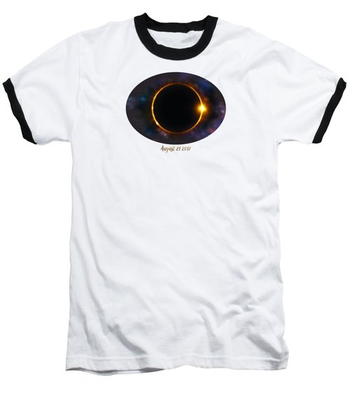Total Solar Eclipse In Space Baseball T-Shirt