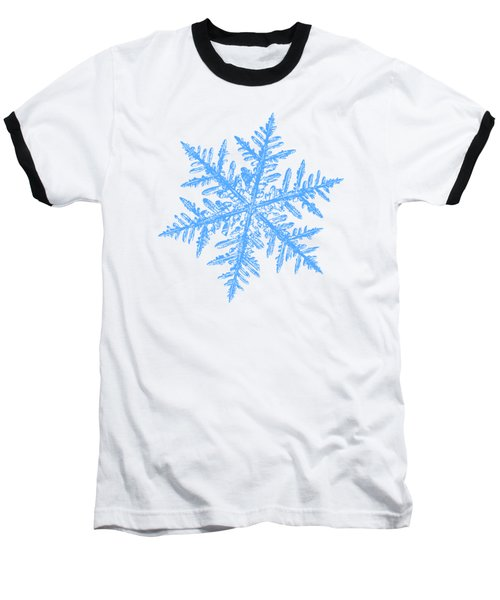 Snowflake Vector - Silverware White Baseball T-Shirt